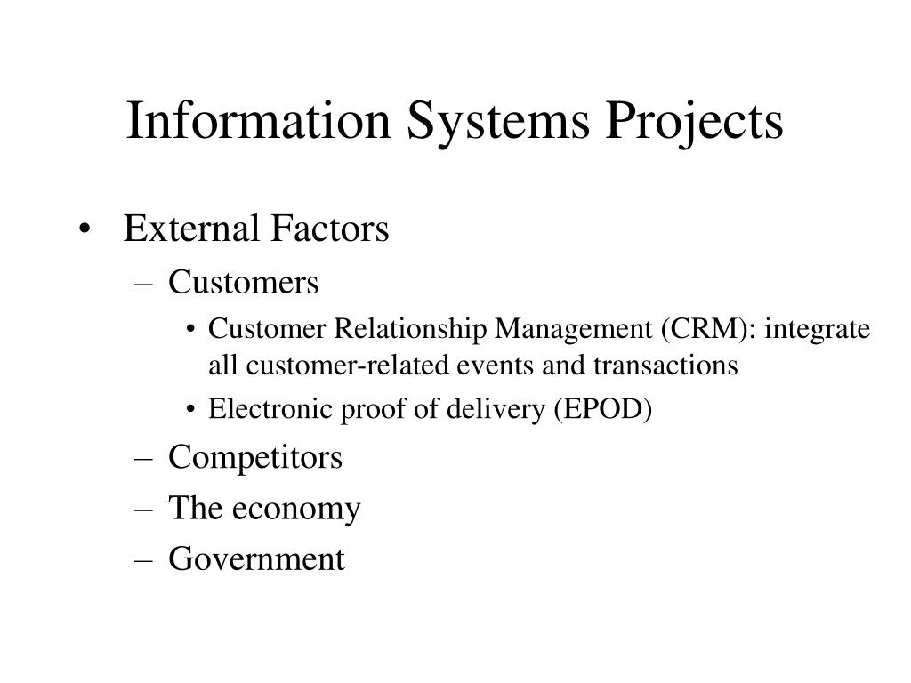 Information Systems Projects