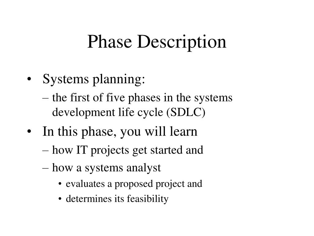 Systems planning: