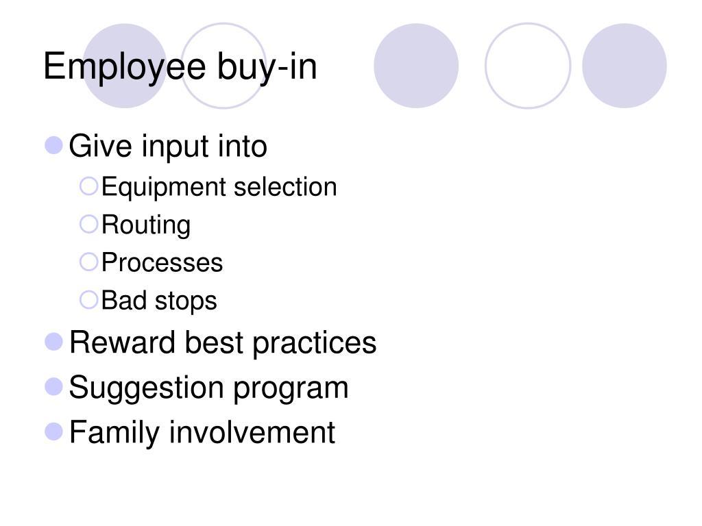 Employee buy-in