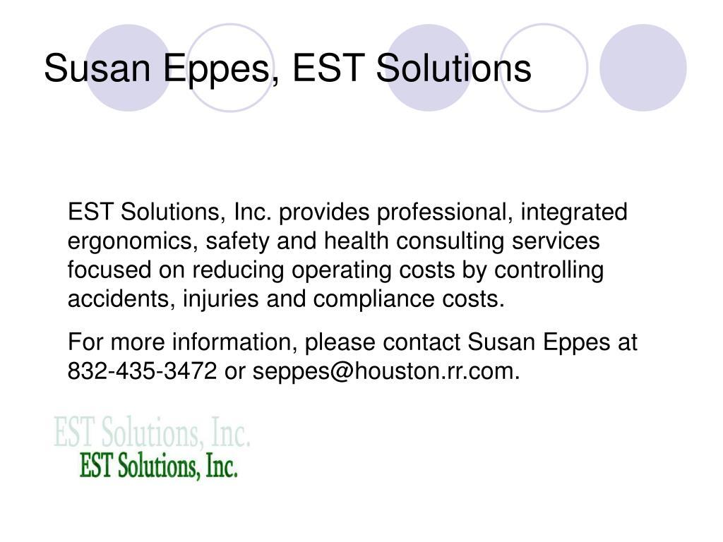 Susan Eppes, EST Solutions