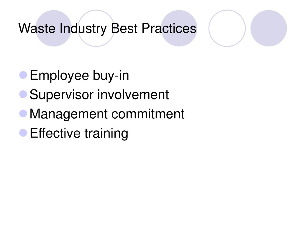 Waste Industry Best Practices