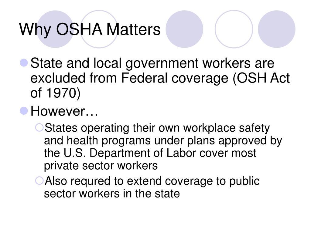 Why OSHA Matters