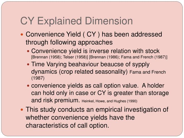 Cy explained dimension