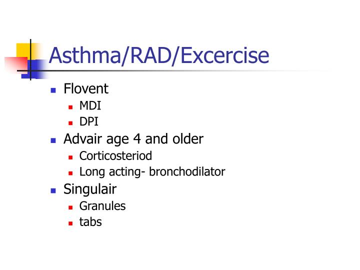 Asthma/RAD/Excercise