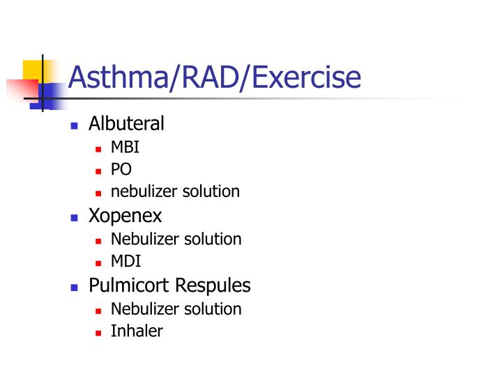 Asthma/RAD/Exercise