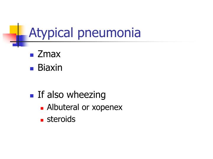 Atypical pneumonia