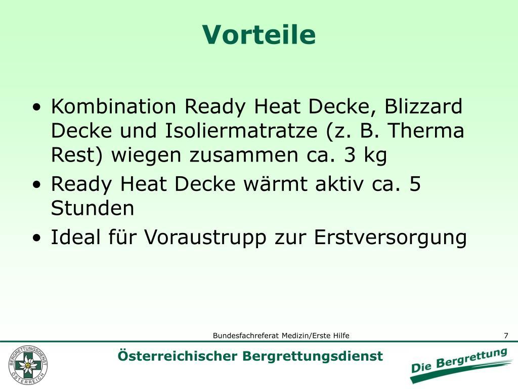 Kombination Ready Heat Decke, Blizzard Decke und Isoliermatratze (z. B. Therma Rest) wiegen zusammen ca. 3 kg