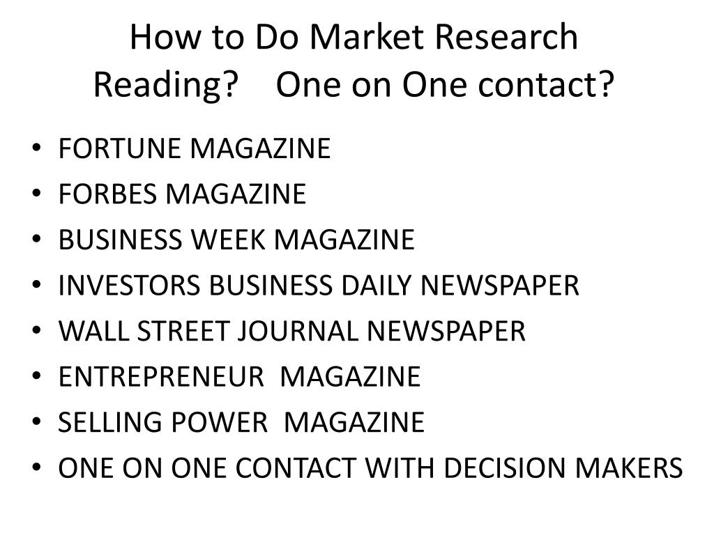 How to Do Market Research