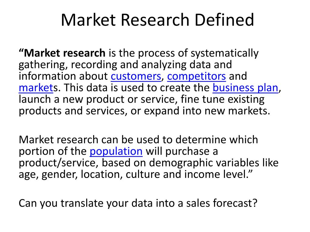 Market Research Defined