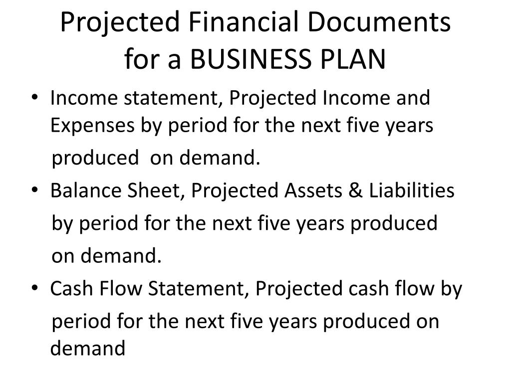 Projected Financial Documents