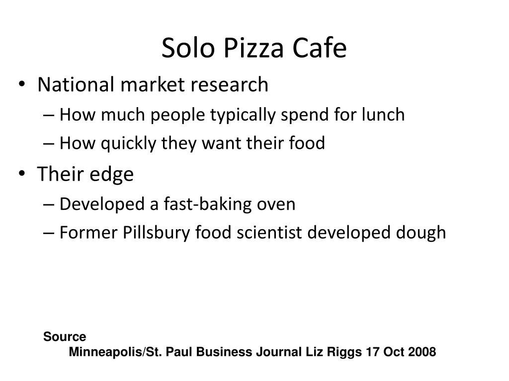 Solo Pizza Cafe