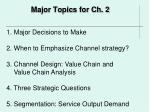 major topics for ch 2