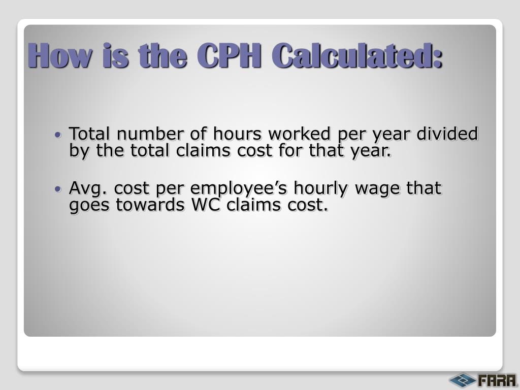 How is the CPH Calculated:
