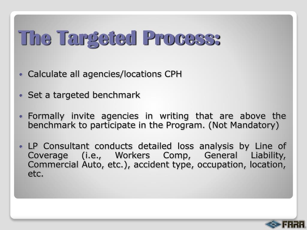 Calculate all agencies/locations CPH