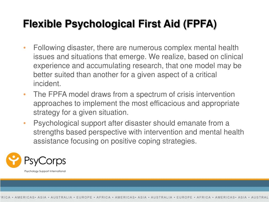 Flexible Psychological First Aid (FPFA)