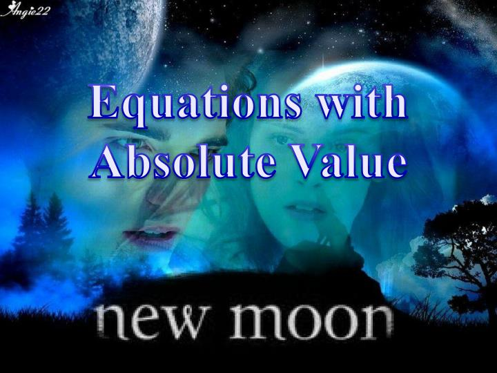 Equations with