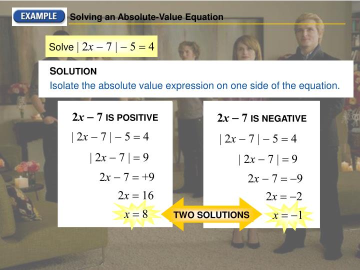Solving an Absolute-Value Equation