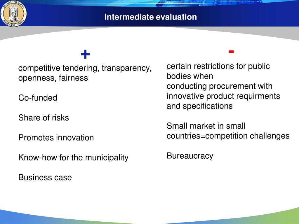 Intermediate evaluation
