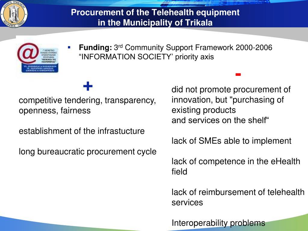 Procurement of the Telehealth equipment