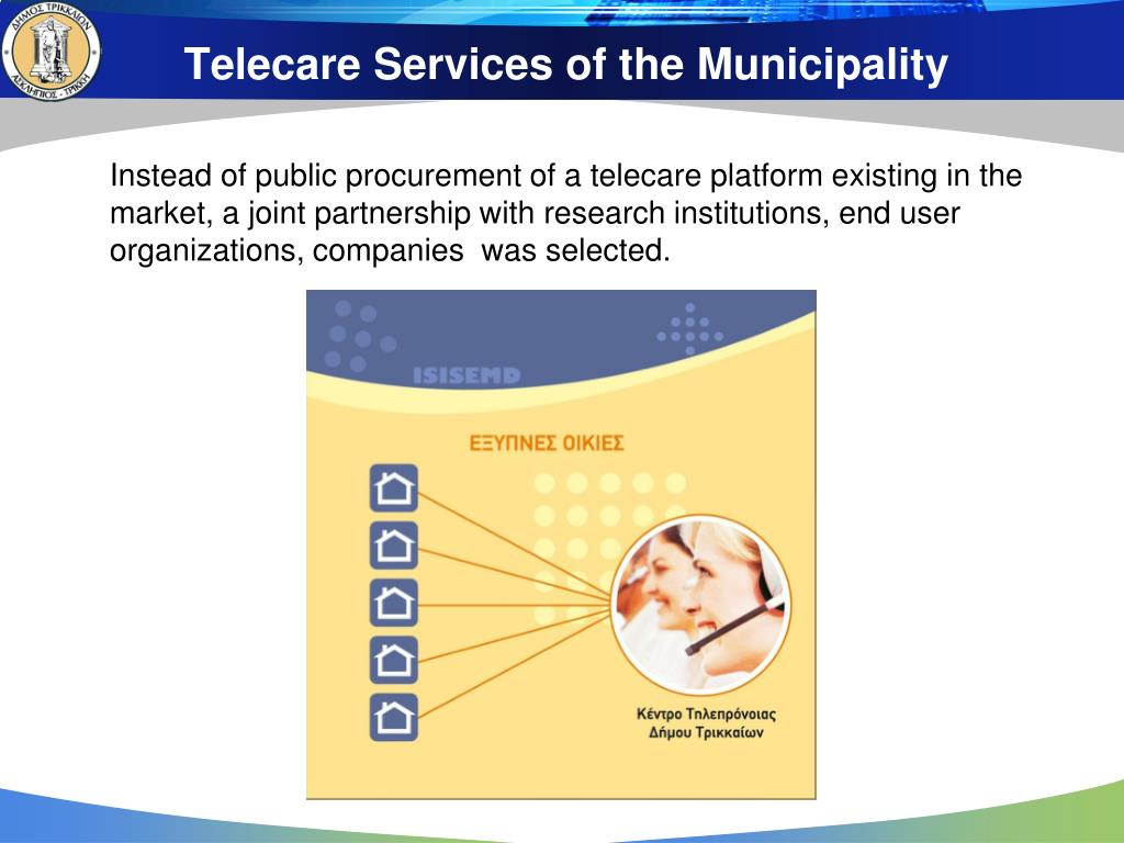 Telecare Services of the Municipality