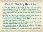 part iii the july revolution