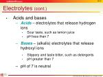 electrolytes cont