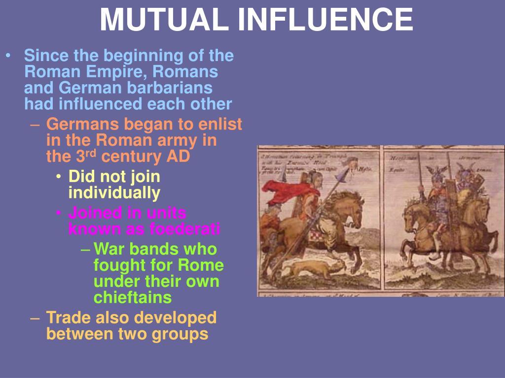MUTUAL INFLUENCE