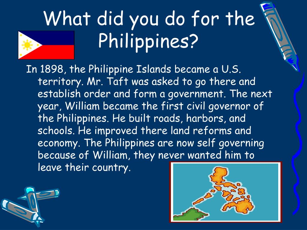What did you do for the Philippines?