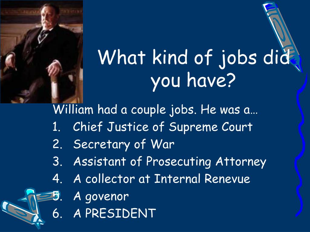 What kind of jobs did you have?