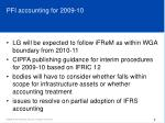 pfi accounting for 2009 10