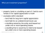 what are investment properties