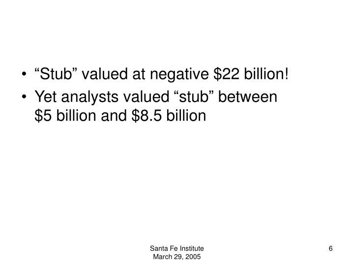 """Stub"" valued at negative $22 billion!"