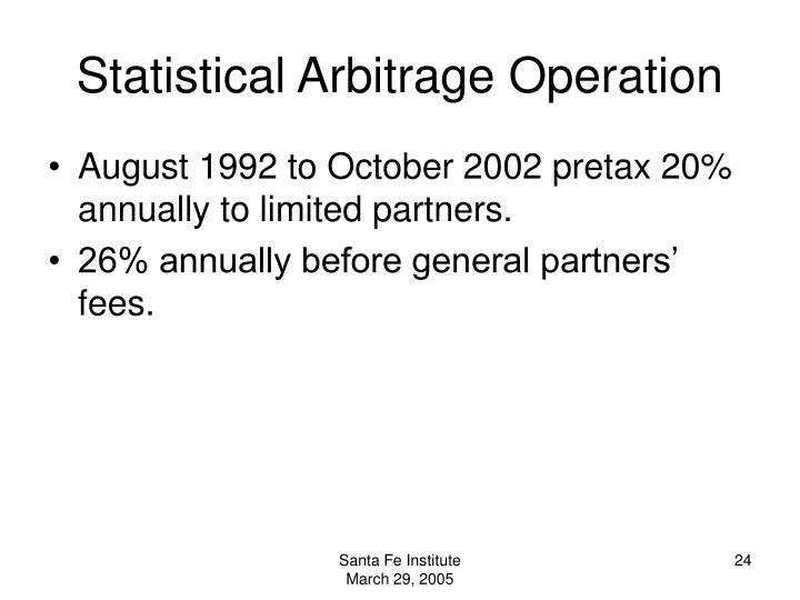 Statistical Arbitrage Operation