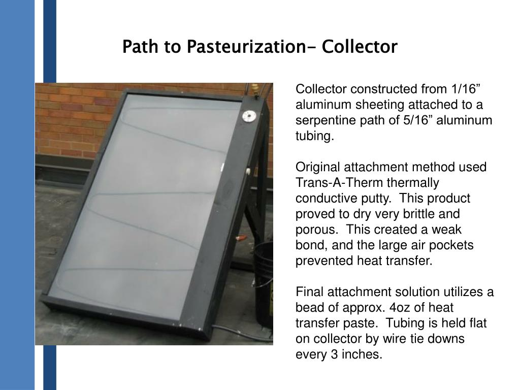 Path to Pasteurization- Collector