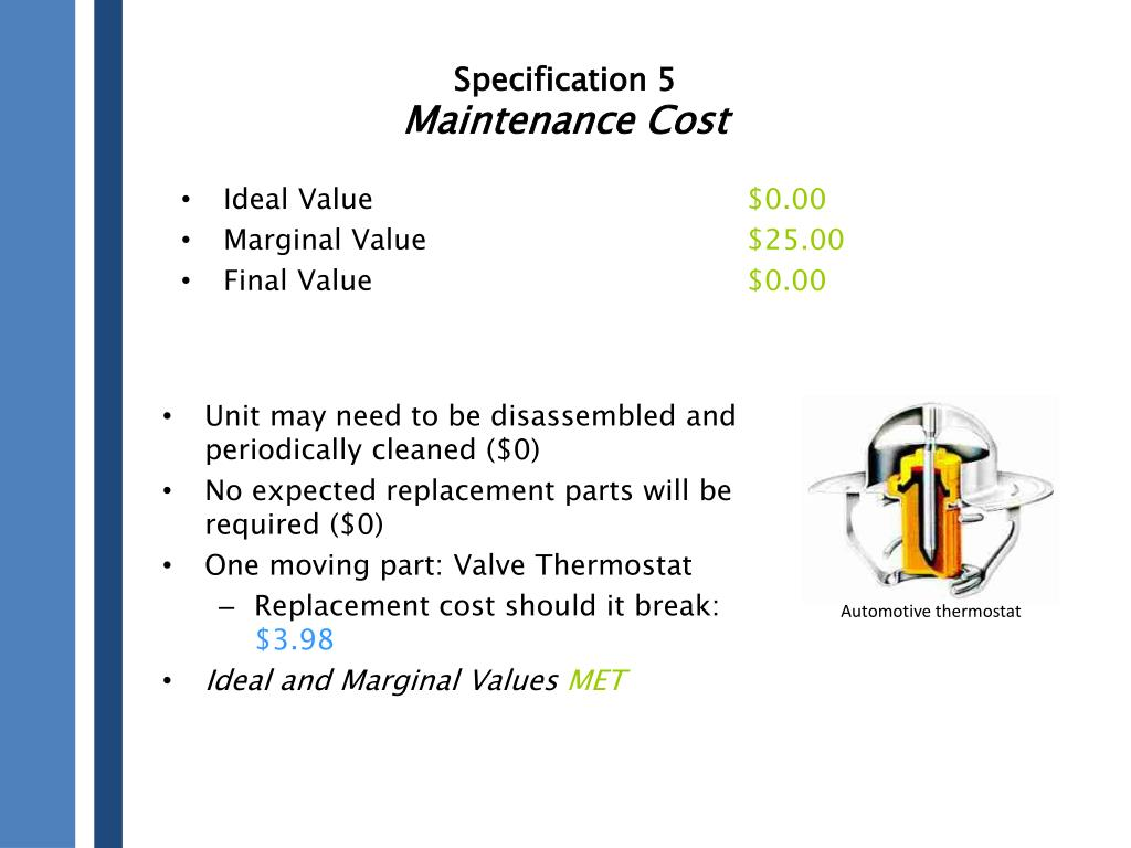 Specification 5
