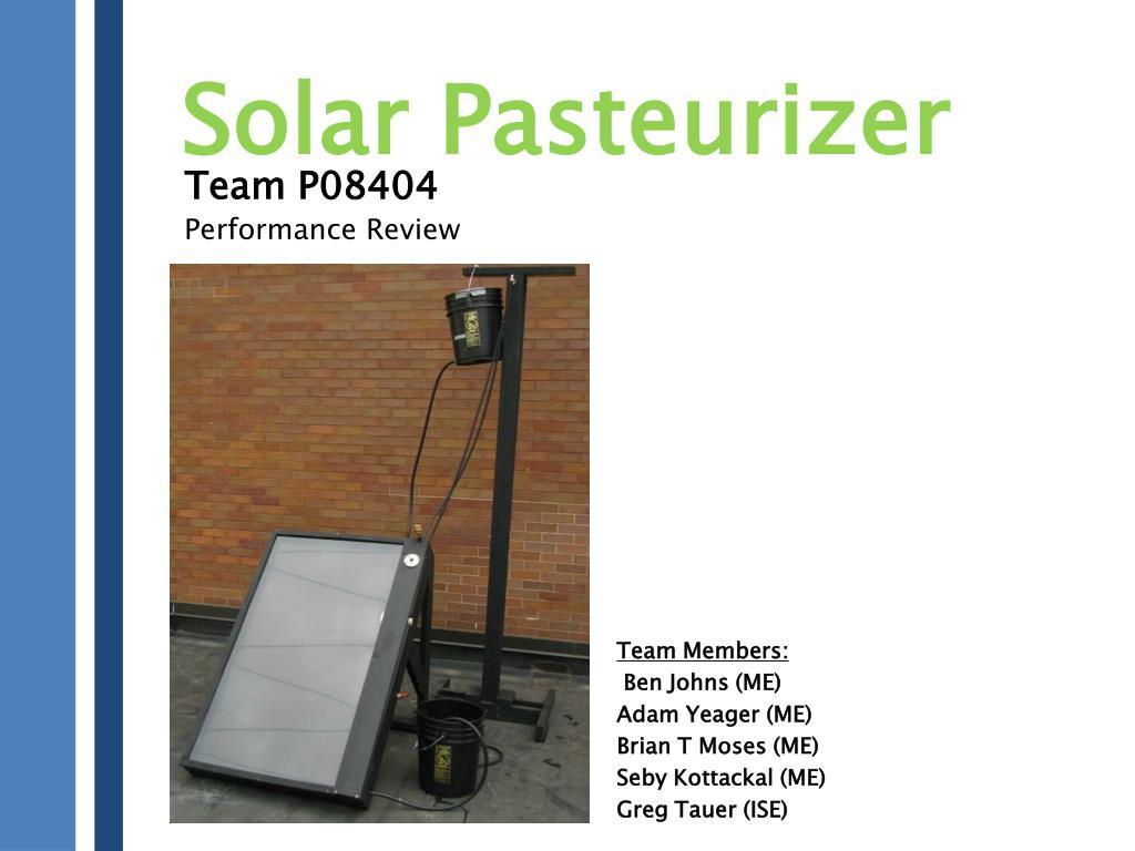 Solar Pasteurizer