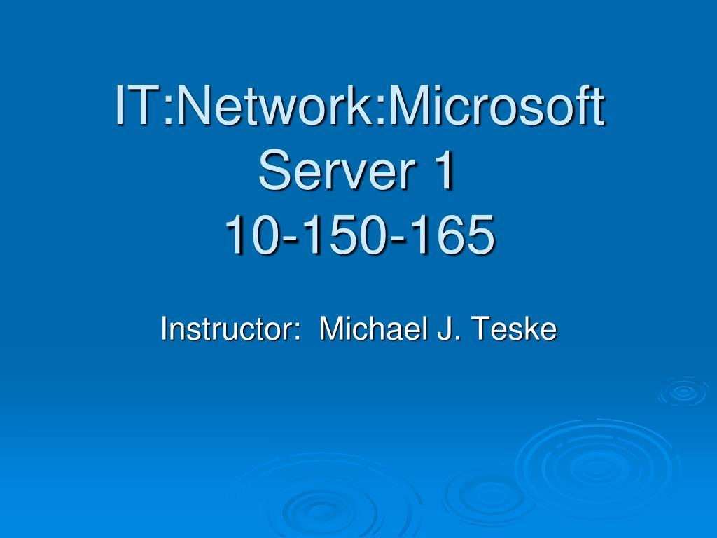 it network microsoft server 1 10 150 165 l.