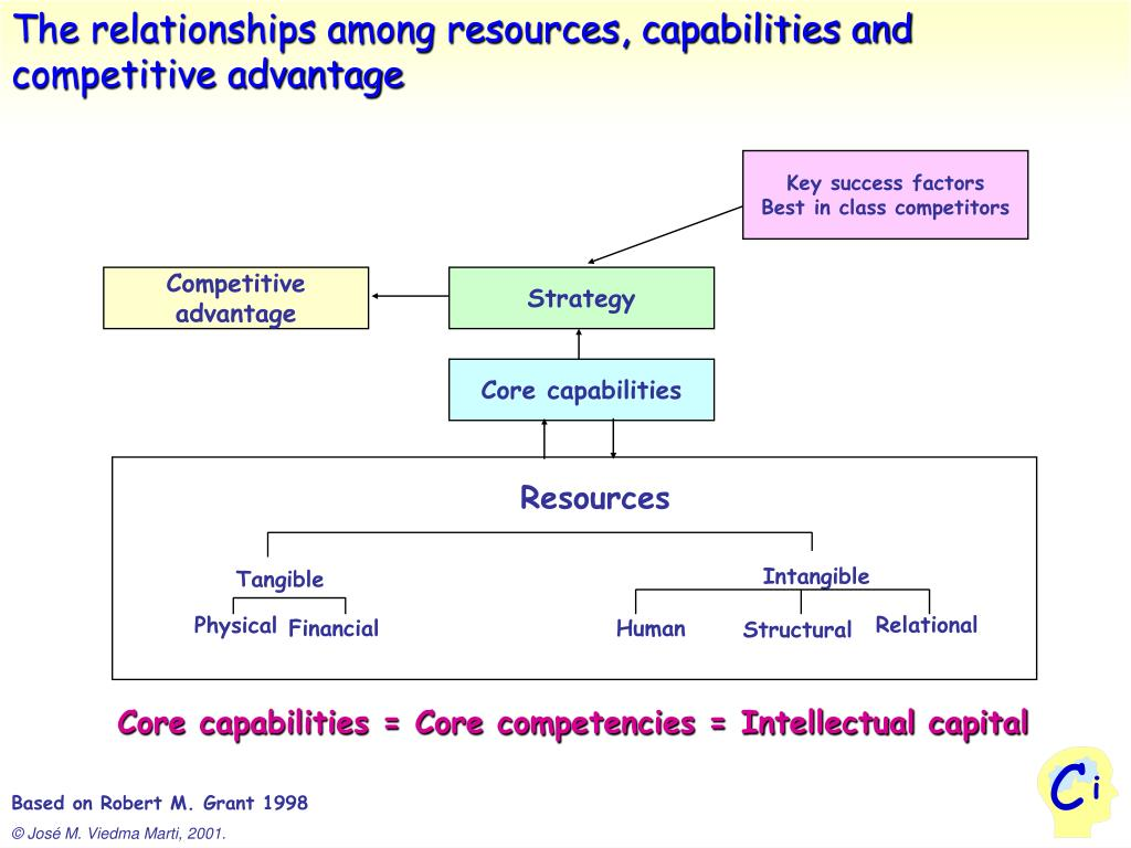 The relationships among resources, capabilities and