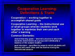 cooperative learning definitions traits
