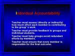 i ndividual accountability
