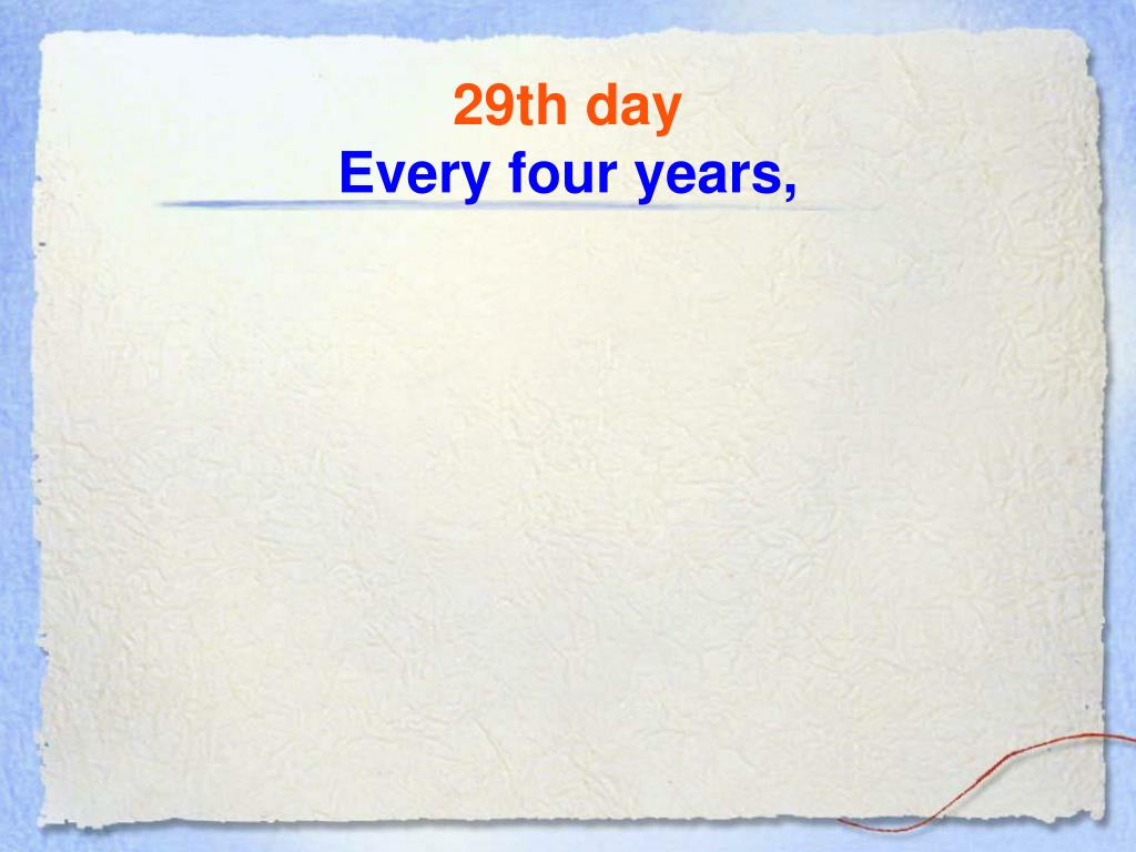 29th day
