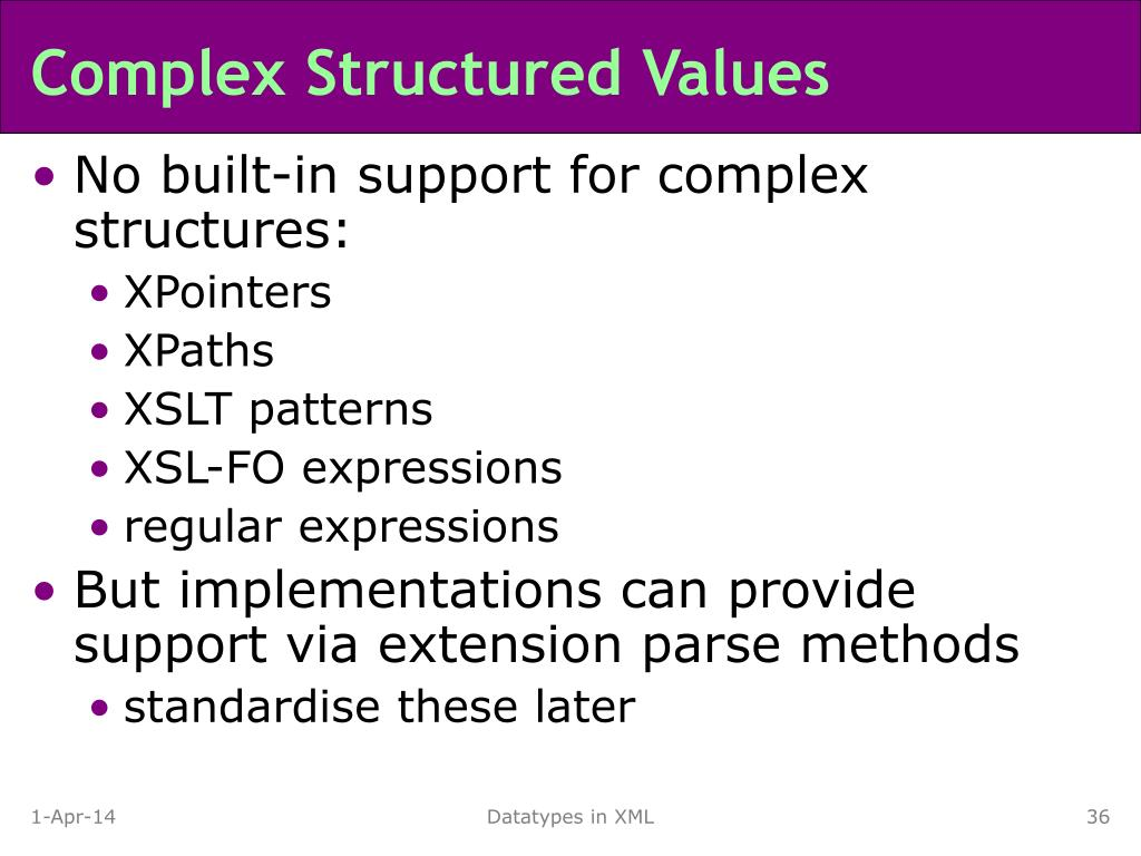 Complex Structured Values