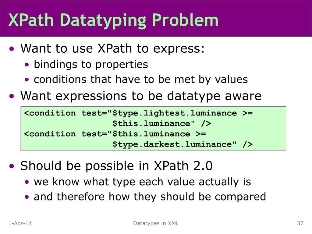 XPath Datatyping Problem