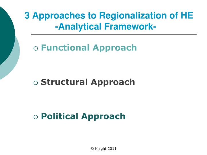 3 Approaches to Regionalization of HE