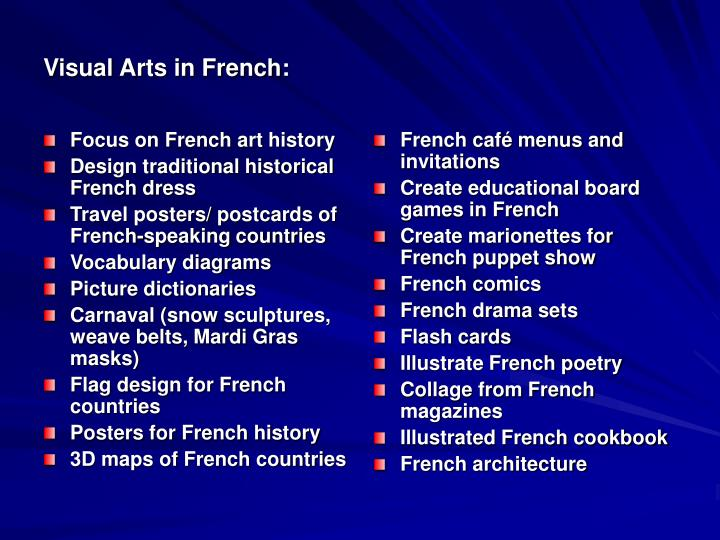 Focus on French art history