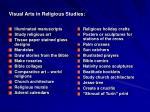 visual arts in religious studies