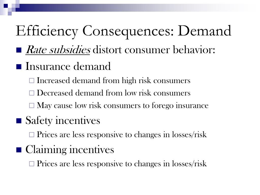 Efficiency Consequences: Demand