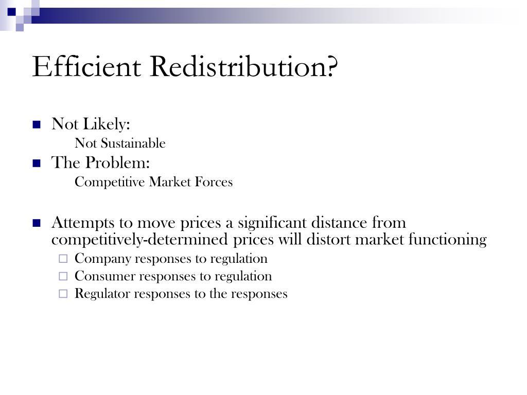 Efficient Redistribution?