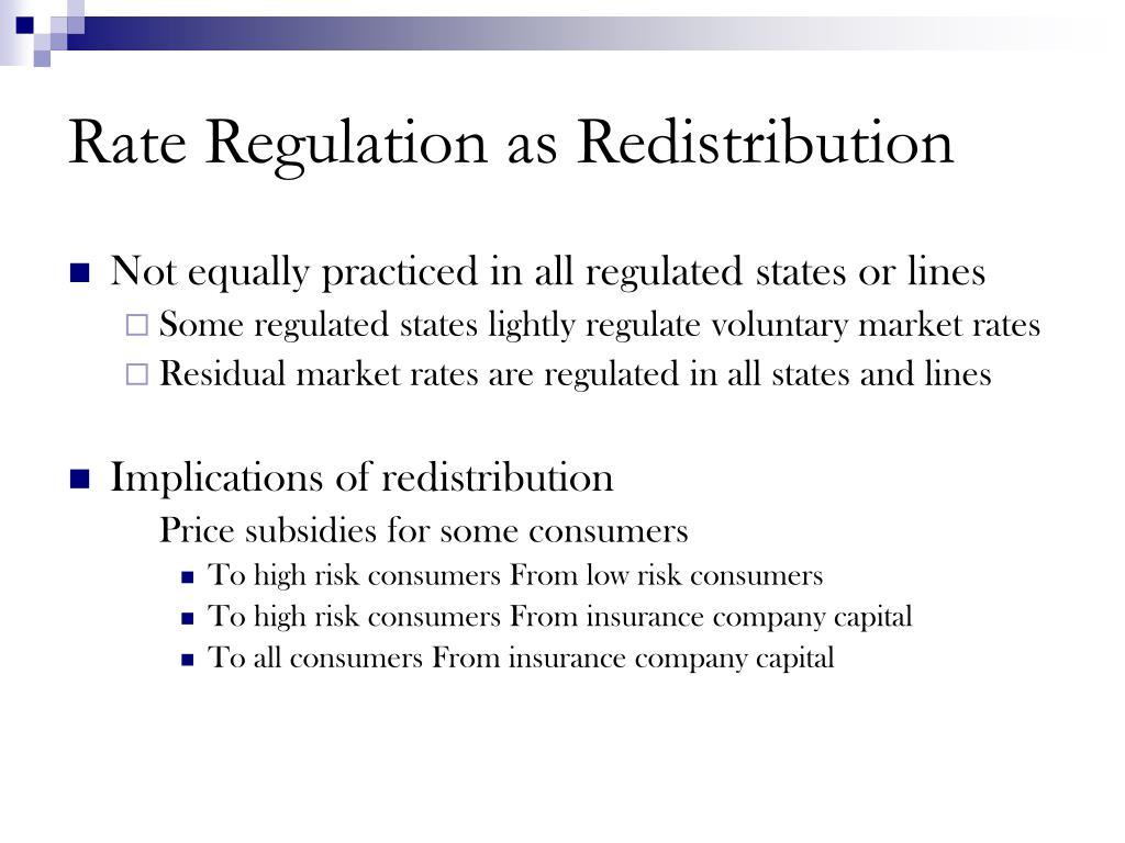 Rate Regulation as Redistribution