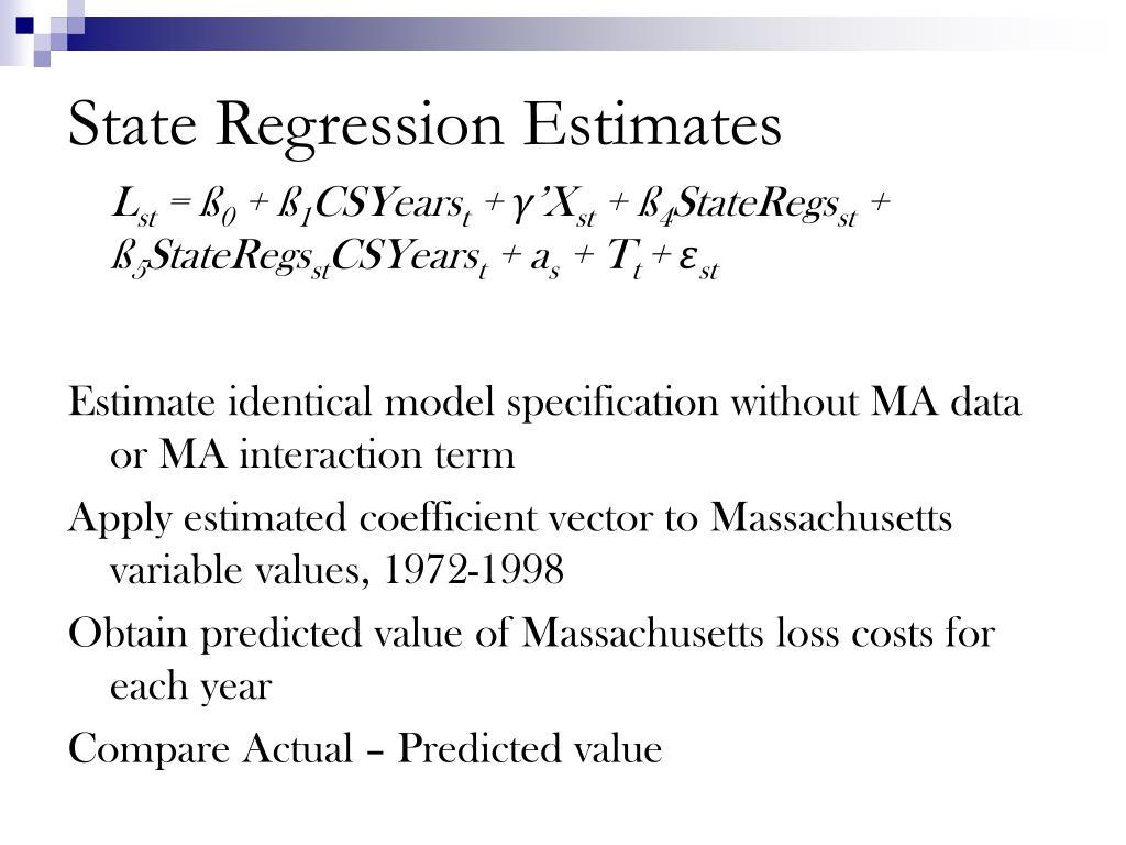 State Regression Estimates